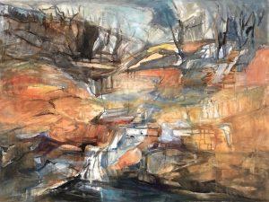 Fortesque falls, acrylic on canvas, 76 x 91cm