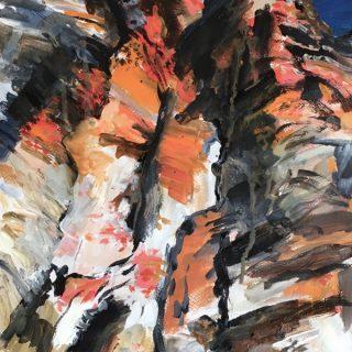 Geiki Gorge - Study I, acrylic on paper, 50 x 32cm