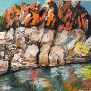 Geiki Gorge II, acrylic on canvas 92 x 122cm