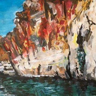 Geiki Gorge Study V, acrylic on paper, 32 x 50cm