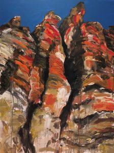 Geiki gorge acrylic on canvas 122 x 92cm