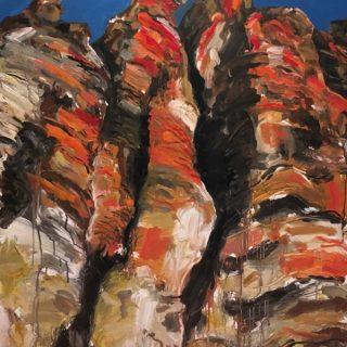 Geiki Gorge I, acrylic on canvas, 122 x 92cm
