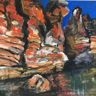 Geiki Gorge lV, acrylic on canvas, 75 X 100cm