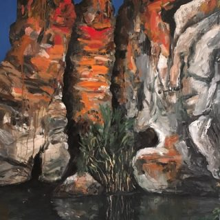 Geiki Gorge lll, acrylic on canvas, 122 x 92 cm