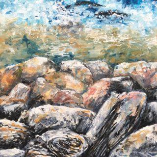 Gordon's Bay Rocks I, acrylic on canvas, 91 x 61cm