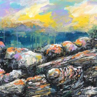 Gordon's Bay Rocks II, acrylic on canvas, 61 x 92cm