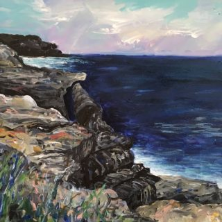 Henry's Head la Perouse, acrylic on canvas, 50 x 60cm