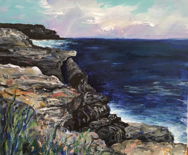 Henry's Head la Perouse, acrylic on canvas, 61 x 76cm