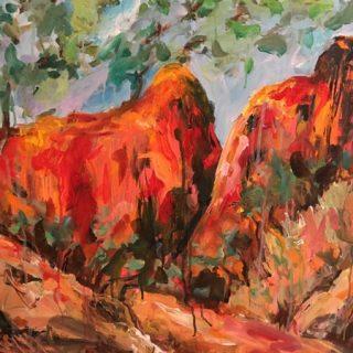 Golden Gully, acrylic on canvas, 61 x 92cm
