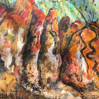Hill end, acrylic on canvas, 76 x 76cm