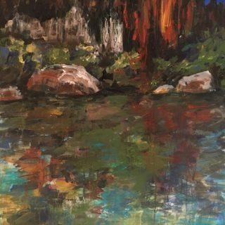Kimberley Cliffs l, acrylic on canvas, 92 x 61cm