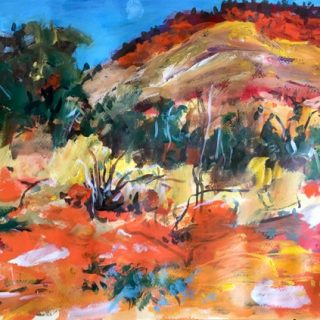 Kimberley Country, acrylic on paper, 32 x 50cm