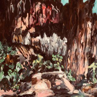 Kimberley Waterhole, acrylic on paper, 50 x 32cm