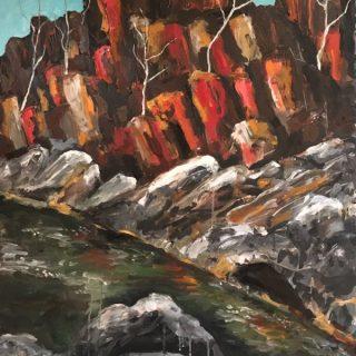 King Leopold Ranges, acrylic on canvas 122 x 92cm