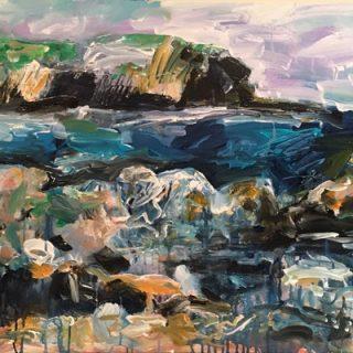 Little Bay, acrylic on canvas, 61 x 92cm