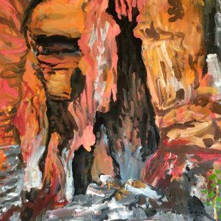 Mimbi Caves - Study, acrylic on paper, 50 x 32cm