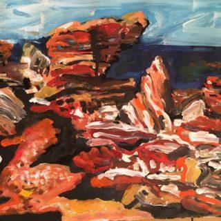 Minyirr Trail - Broome, acrylic on paper, 32 x 50cm