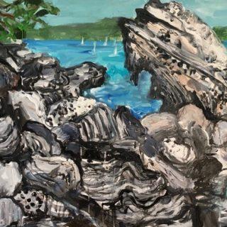 Shark Bay, acrylic on canvas, 61 x 92cm