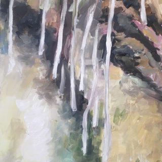 White Gums, acrylic on canvas, 80 x 40cm