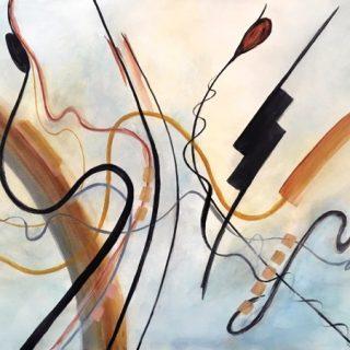 Bright Shield Skipper, acrylic on canvas, 76 x 101cm