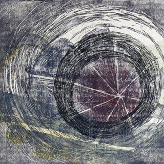 Maelstrom, 4 plate woodcut print on paper, 37.5 x 50cm