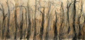 Noctilucenct, pastel on paper, 19 x 42cm