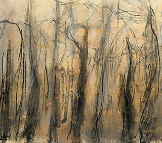Noctilucenct, pastel on paper, 35 x 57.5cm (incl frame)