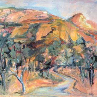 Capertee Valley, acrylic on canvas, 61 x 76cm