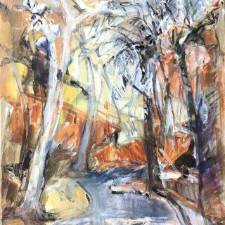 Echidna Chasm, acrylic on canvas, 91 x 76cm