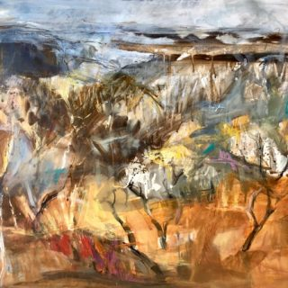 Pilbara, acrylic on paper,  75 x 93cm (incl. frame)