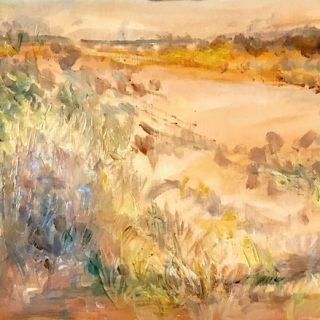Tanami, oil on paper, 28 x 40cm
