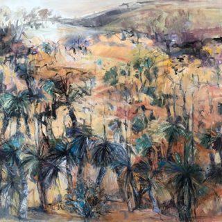 Xanthorrhoea Forest WA, acrylic on canvas, 92 x 120cm