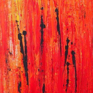 Fire Dancers #2, acrylic on canvas, 61 x 91cm
