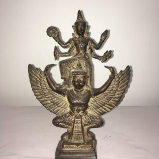 Garuda & Vishnu (Thailand), brass, 27 x 20cm
