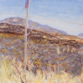 Grassy Beyond, oil on canvas, 76 x 76cm