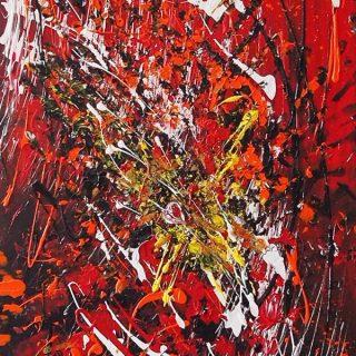 Heartbeat, mixed media on canvas, 91 x 45cm