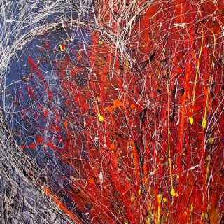 Jupiter Rising, acrylics on canvas, 101.5 x 152cm