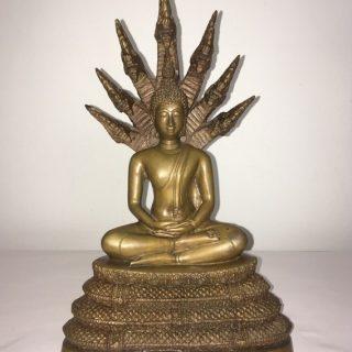 Naga buddha (thailand), brass, 30 x 20cm