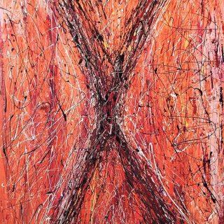Nirvana, mixed media on canvas, 102 x 152cm