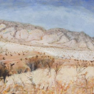 Old land form, oil on canvas, 61 x 92cm