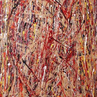 Open Heart, mixed media on canvas, 153 x 102cm