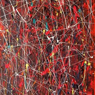 Orgasmic 2, acrylics on canvas, 45.5 x 91cm