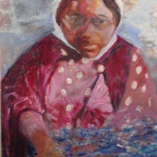 Refugee, oil on canvas, 91 x 61cm