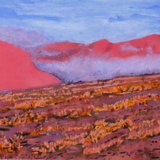 Salt Mist at Dawn, acrylic on wood, 46 x 61cm