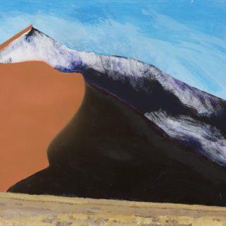 Sand Dune 1, acrylic on wood, 46 x 61cm