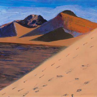 Sand Dune 2, acrylic on wood, 61 x 70cm