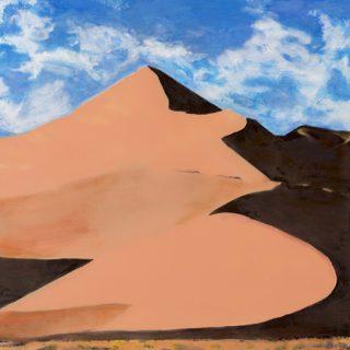 Sand Dune 3, acrylic on canvas, 77 x 77cm