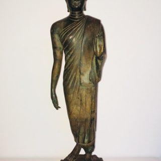 Standing Buddha (Thailand), bronze, 65 x 18cm, 20th cent.