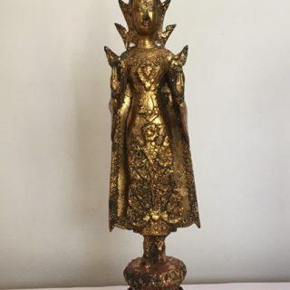 Standing Crowned Buddha 1 (Thailand), bronze, 45 x 12cm
