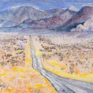 Undulating Valley, oil on canvas, 93 x 122cm